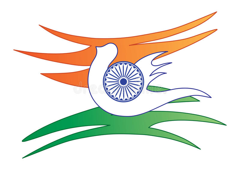 Indian flag abstract stock photo