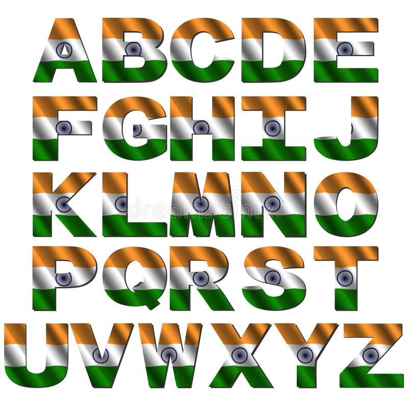 Indian flag font royalty free illustration