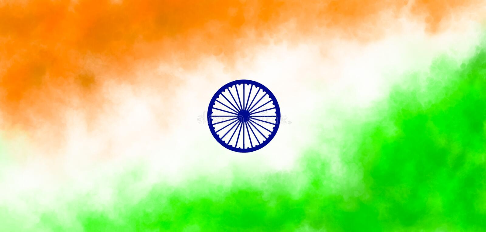 Indian flag illustration  with texture. This is image of indian flag which was drawn by me  first i draw it in a sketching aap and after that i convert into jpg stock illustration