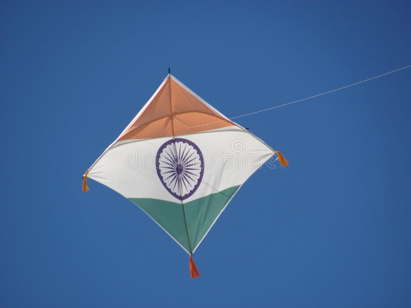 Indian_Flag_Kite zdjęcie stock
