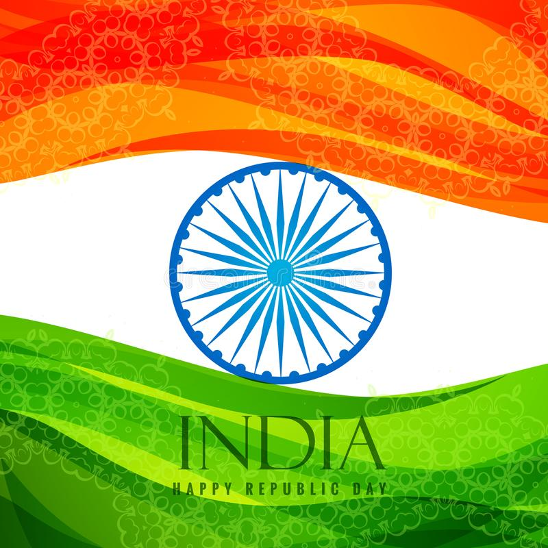 Indian Flag Poster Template Vector Design Illustration Stock Vector ...
