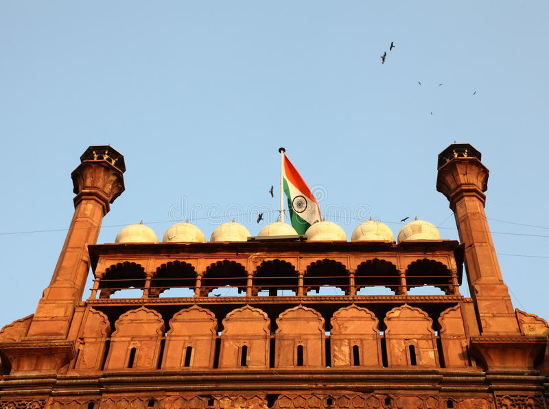 Download Indian Flag on Red Fort stock photo. Image of ruins, ancient - 24404468