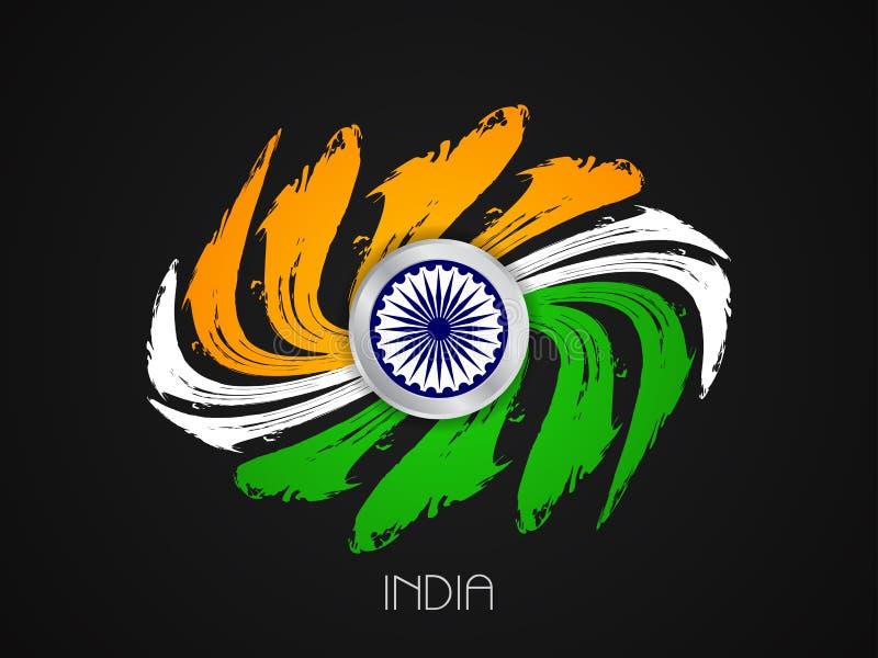 India Flag Theme: Indian Flag Theme Design Stock Vector. Illustration Of
