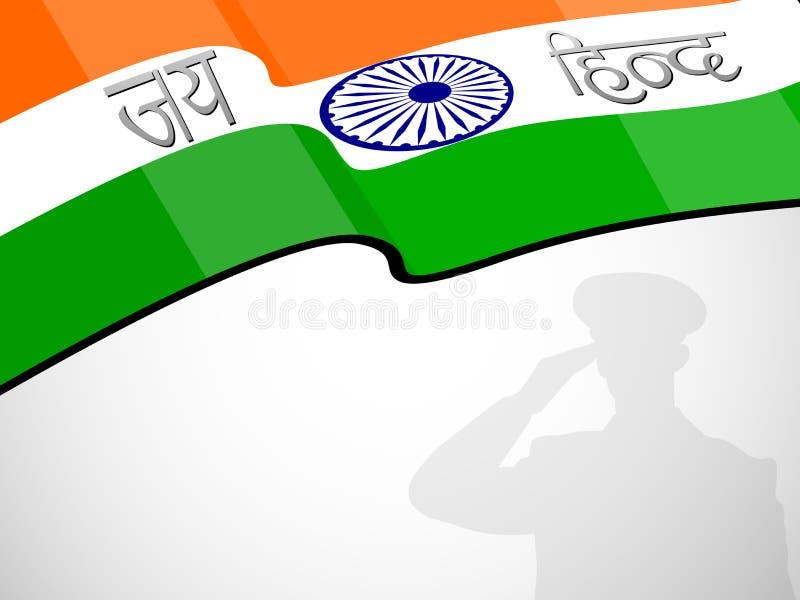 Download Indian Flag Waving Background Stock Illustration - Image: 26044790