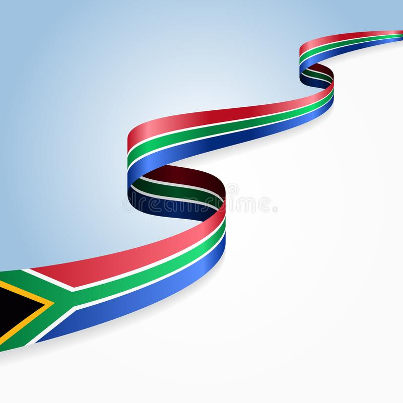 South African flag wavy abstract background. Vector illustration. South African flag wavy abstract background layout. Vector illustration royalty free illustration