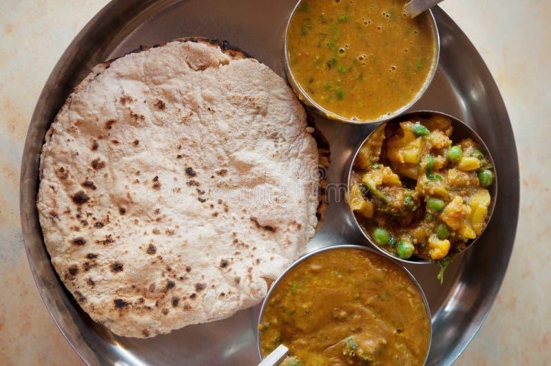 Indian food chapatti roti stock photo