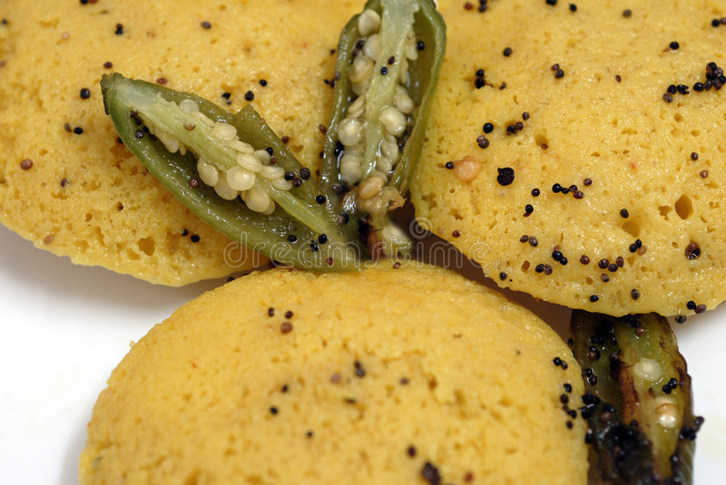 Indian Food Dish Dhokla royalty free stock photography