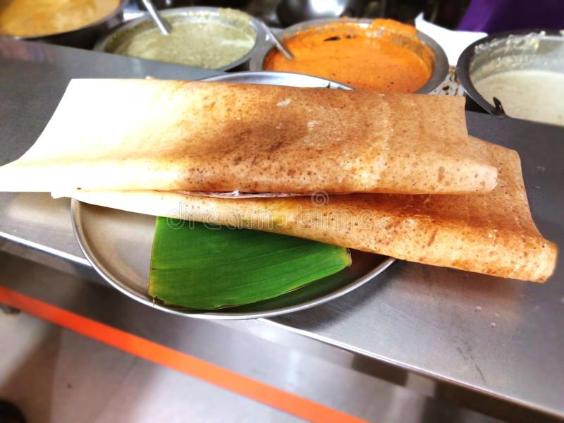 Indian food & x22;Dosa& x22;. This is an South Indian breakfast food royalty free stock images