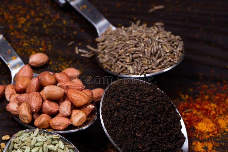 Indian food powder stock photos