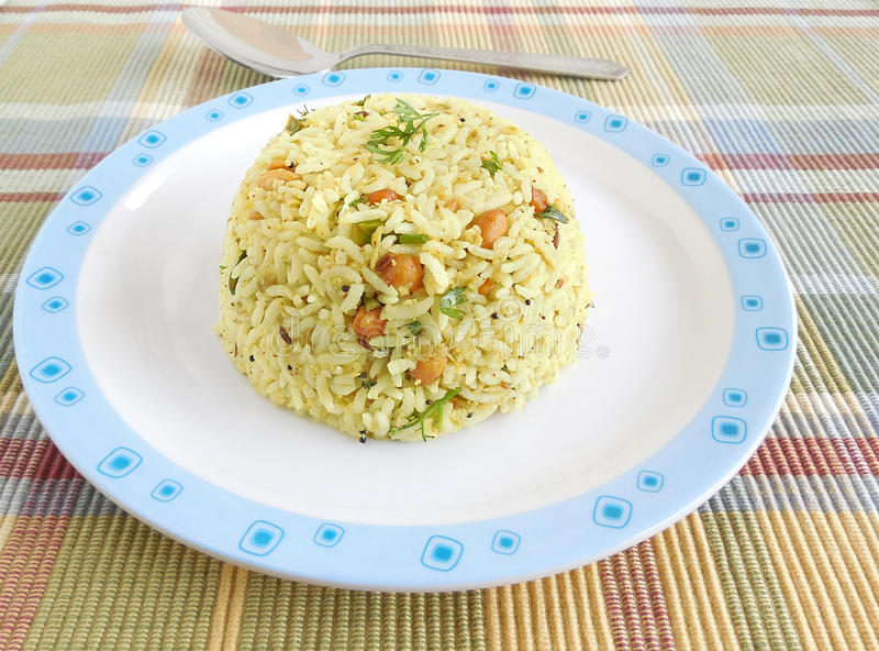 Indian Food Raw Mango Rice. Which is a traditional and popular dish, is especially made on the festival day of Ugadi stock image