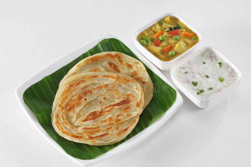 Indian food. Indian vegetarian food made out of Atta stock photo
