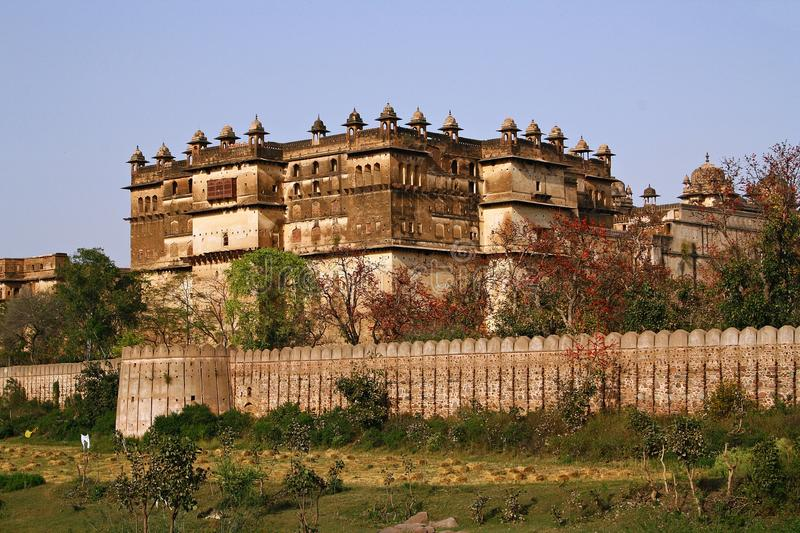 Indian fort in Orchha royalty free stock photos