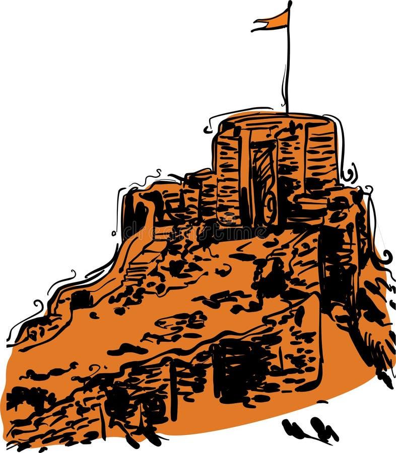 Indian Fort Vector illustration for designs stock illustration