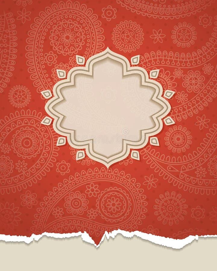 Indian frame. royalty free illustration