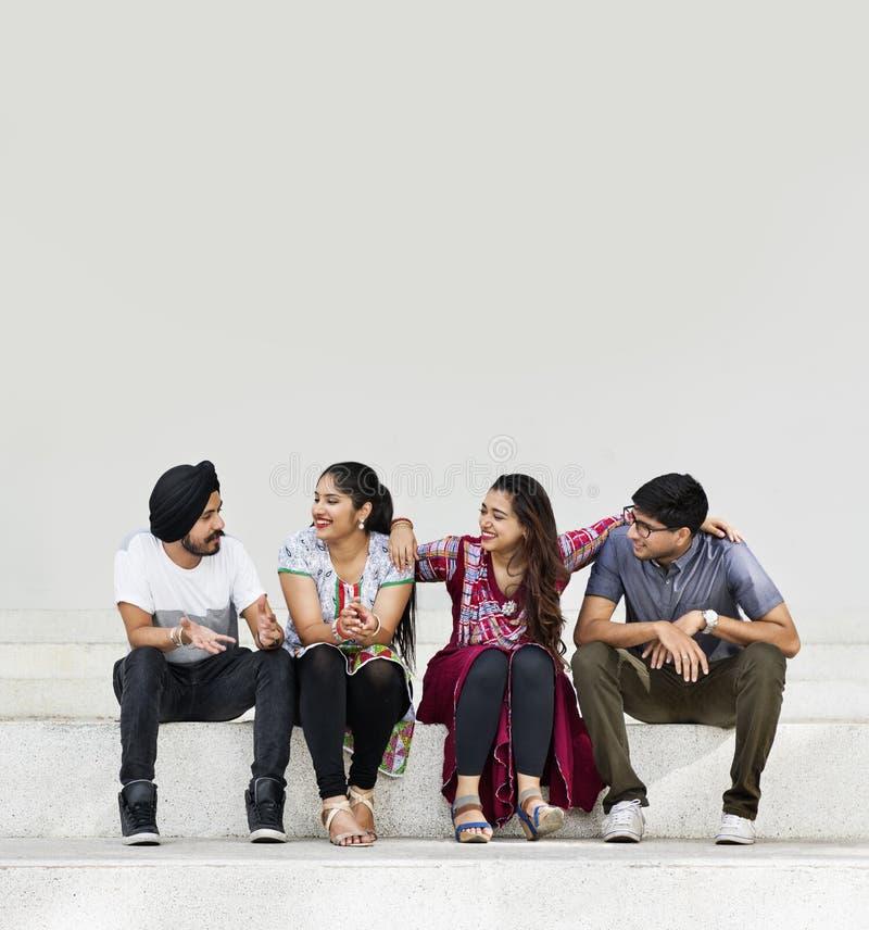 Indian Friends Classmates Hangout Concept stock images