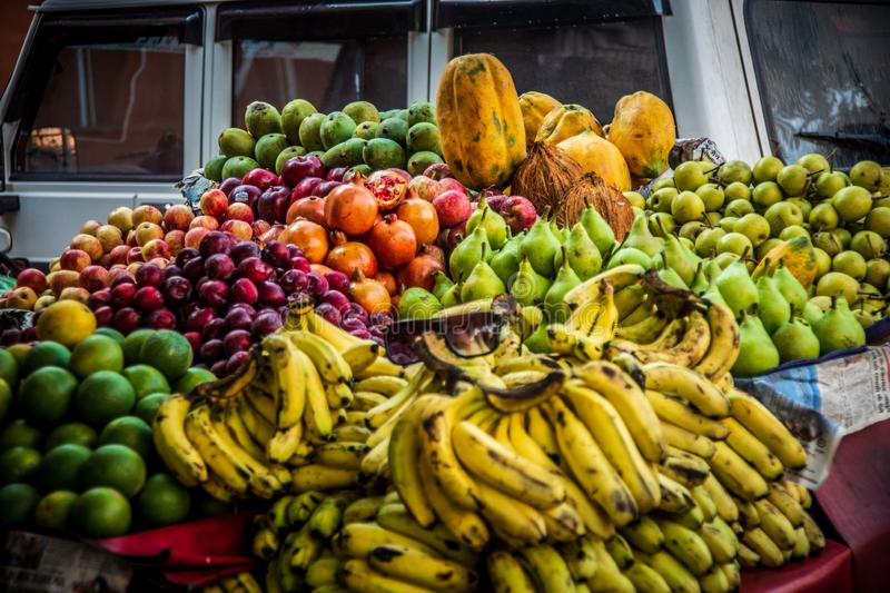 Indian fruit in Pink City in jaipur. India royalty free stock photo