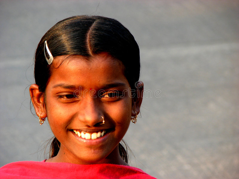 Download Indian Girl stock image. Image of good, cheerful, cultural - 1774349