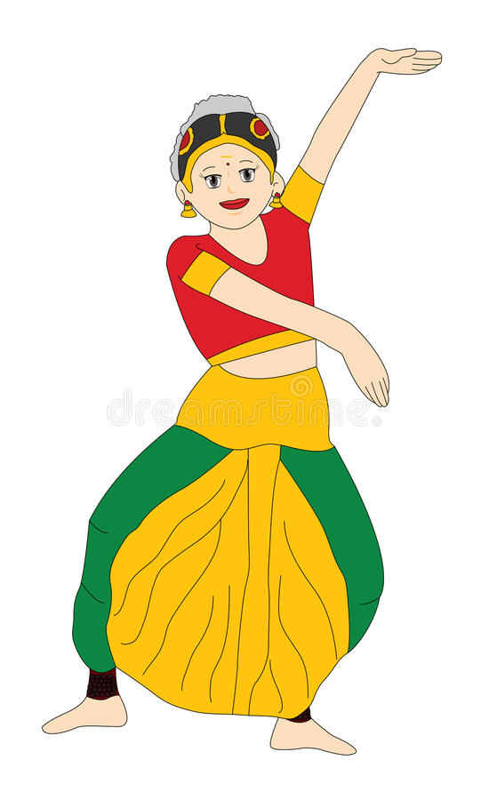 indian girl dancing stock illustration illustration of belly rh dreamstime com picture of a girl dancing clipart dancing girl cartoon clip art