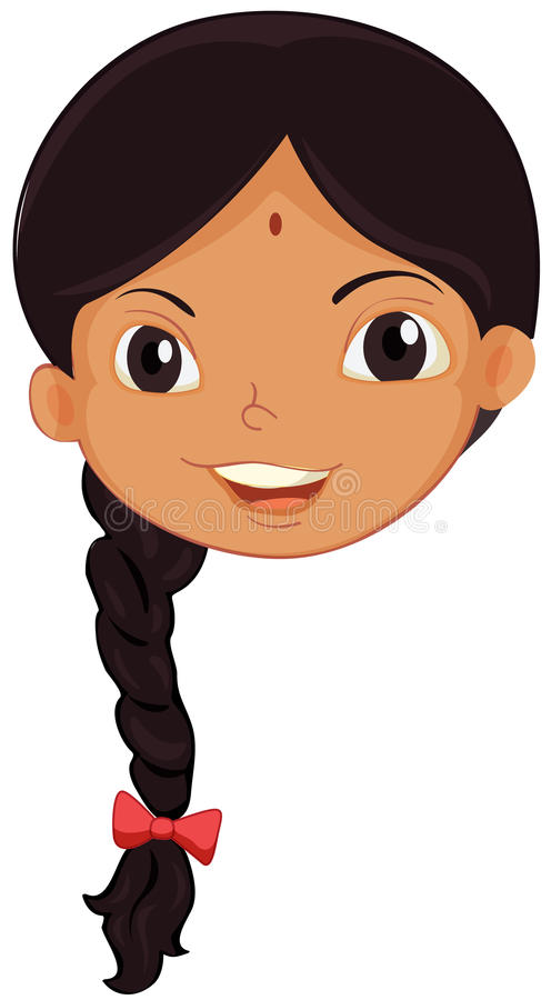 indian girl face stock vector illustration of cartoon 24992670 rh dreamstime com Happy Girl Clip Art american indian girl clipart