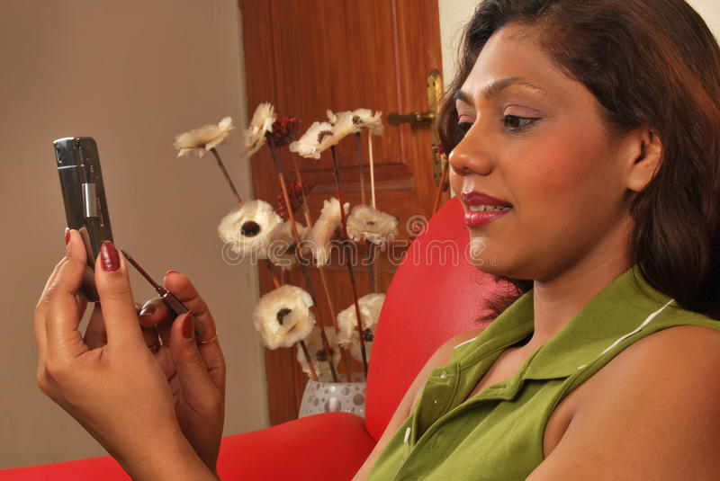 Indian girl on phone