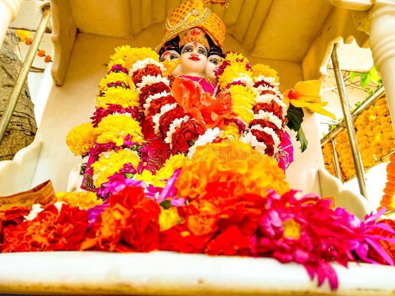 Indian god guru datta/dattatreya on dattatreya jayanti/dattatreya jayanti,pune India 免版税图库摄影