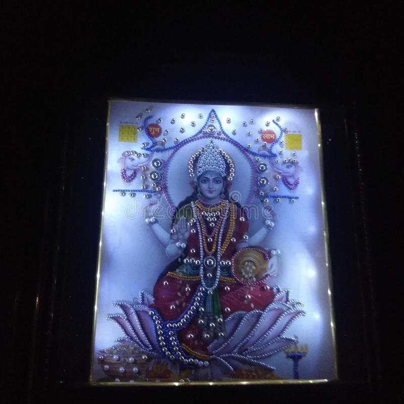 Indian Goddess Laxmi stock photo