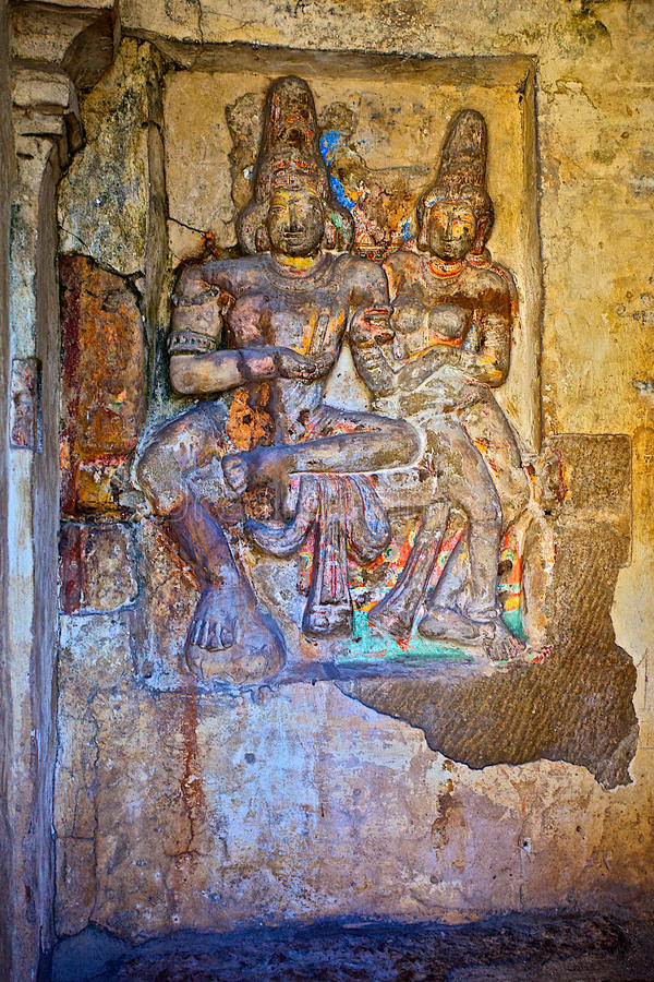 Indian Gods. Ruins of indian classical sculptures stock image