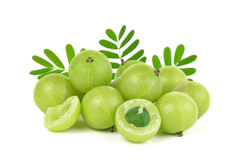 Indian gooseberry isolated on white background stock photos