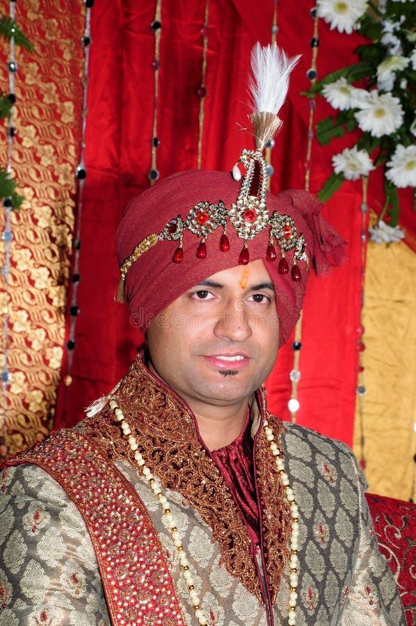Indian groom stock image