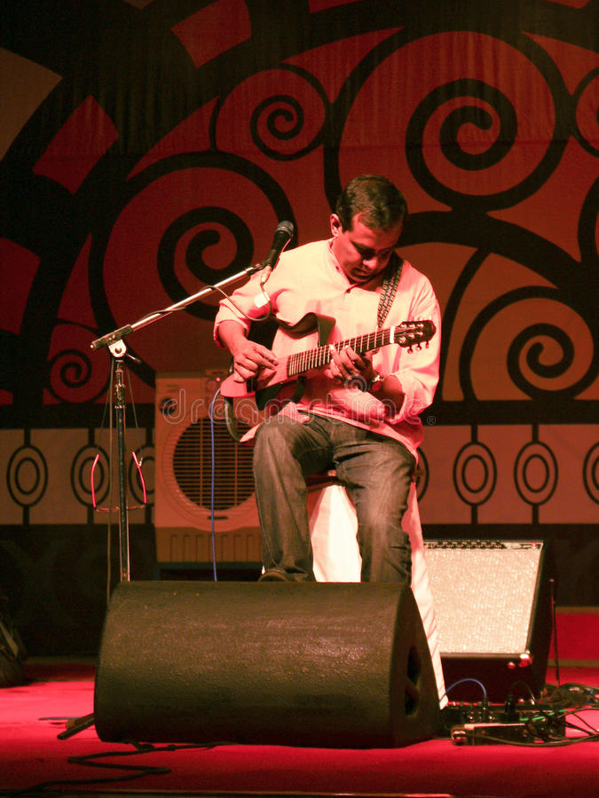 Download An Indian Guitarist Playing Live In Concert Editorial Stock Photo - Image: 23349523