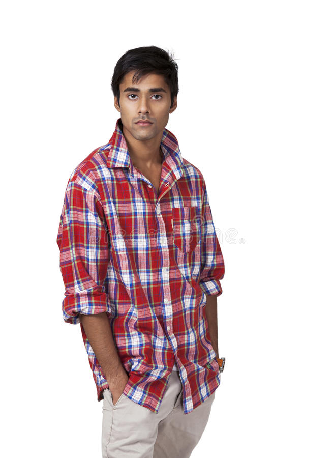 Indian guy with casual attitude royalty free stock photos