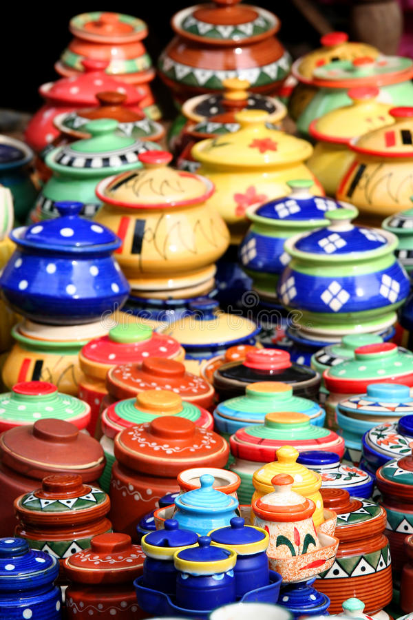 Indian hand made crafts stock images