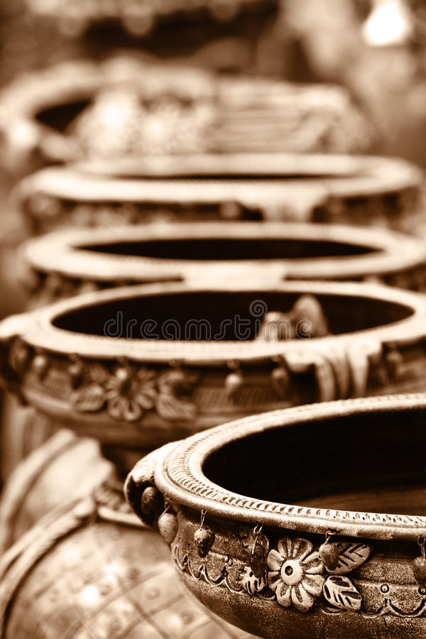 Indian hand made crafts stock photo