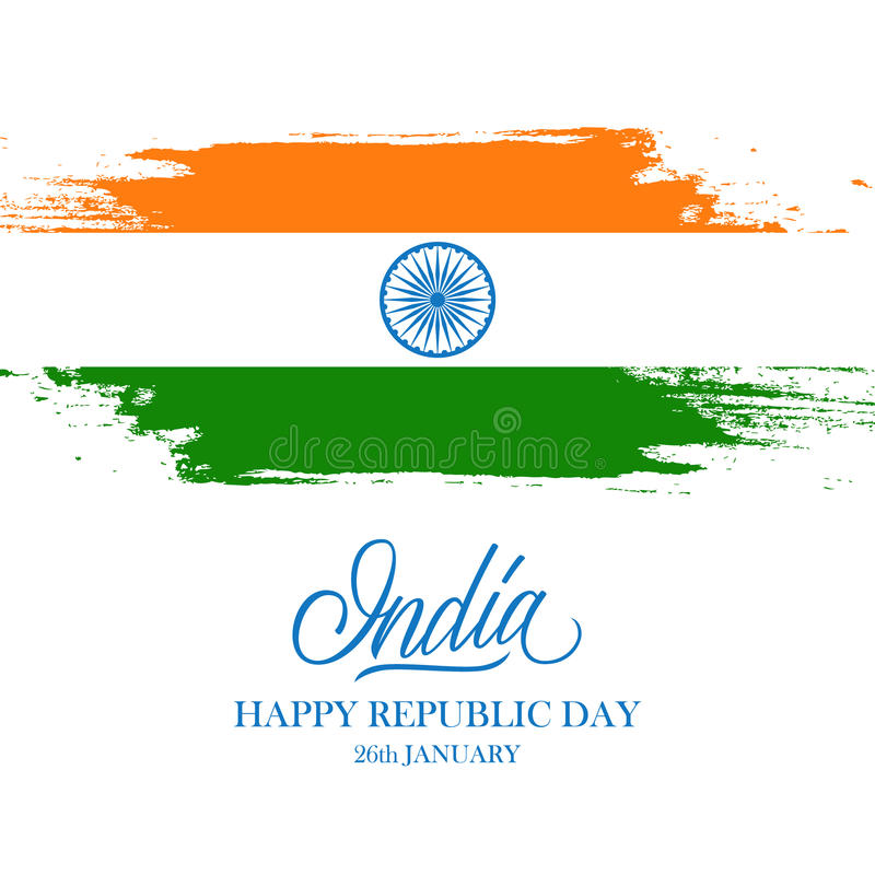 Indian happy republic day greeting card with handwritten word india download indian happy republic day greeting card with handwritten word india and brush strokes in the m4hsunfo