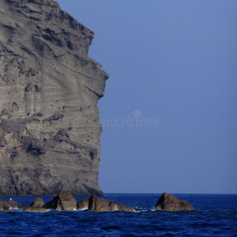 Download Indian head rock Santorini stock photo. Image of santorini - 34483056