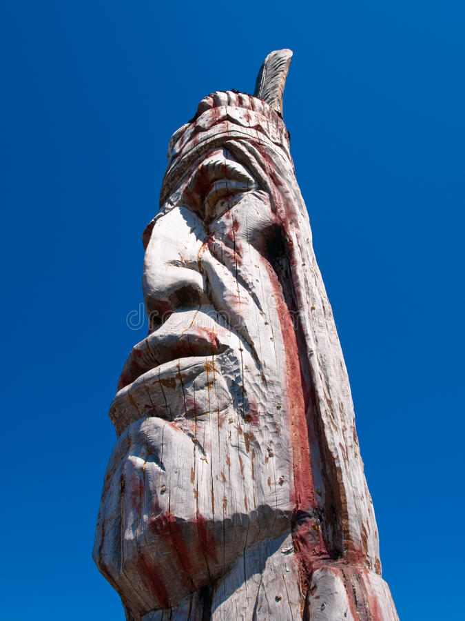 Indian Head Totem Pole