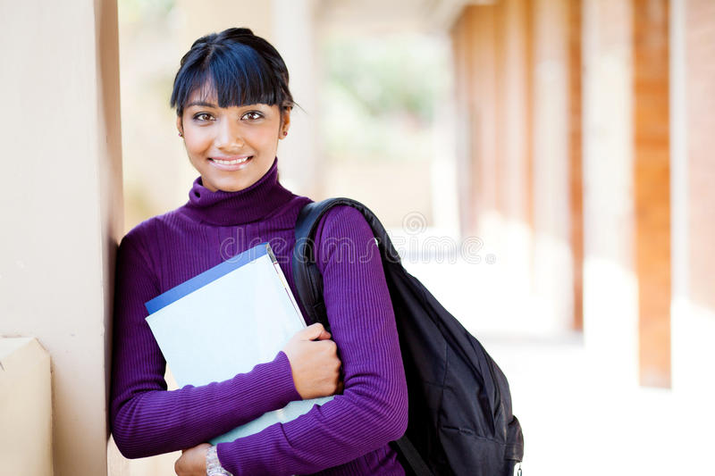 Indian high school student royalty free stock photography