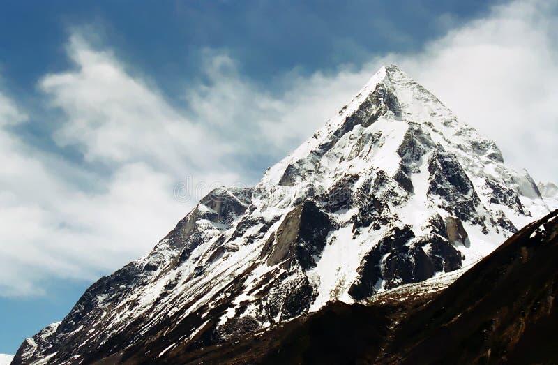 Indian Himalaya. Shivling paek (6543 m) - Indian Himalaya near the spring of Ganges River, Uttaranchal, India stock image