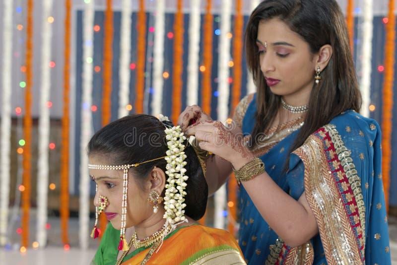 Indian hindu wedding rituals stock image