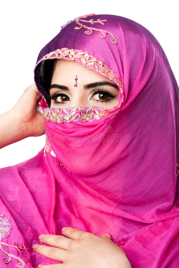 Download Indian Hindu Woman With Headscarf Stock Image - Image of covering, beauty: 23734195