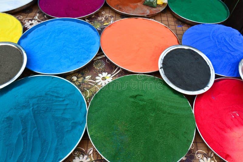 Indian holi colors stock photos