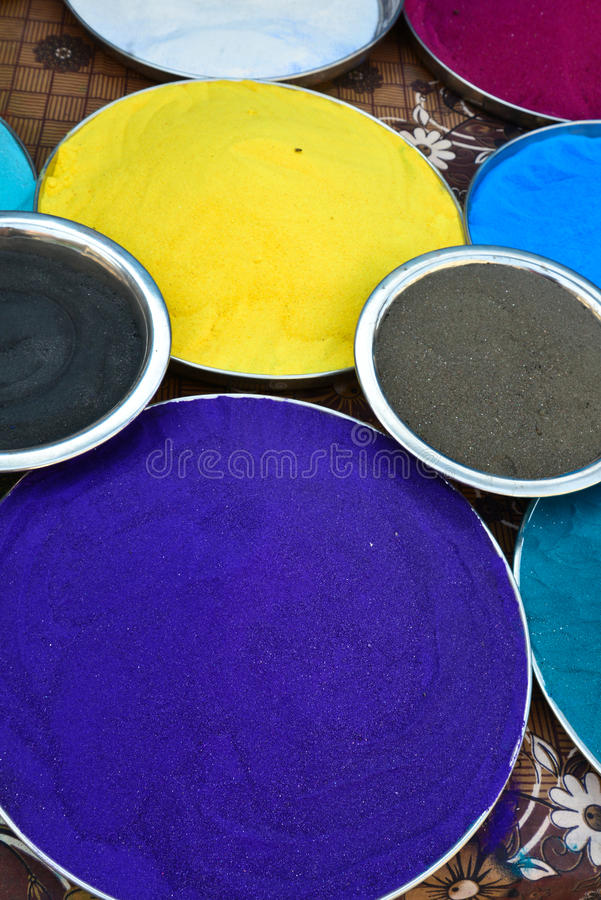 Indian holi colors stock photography