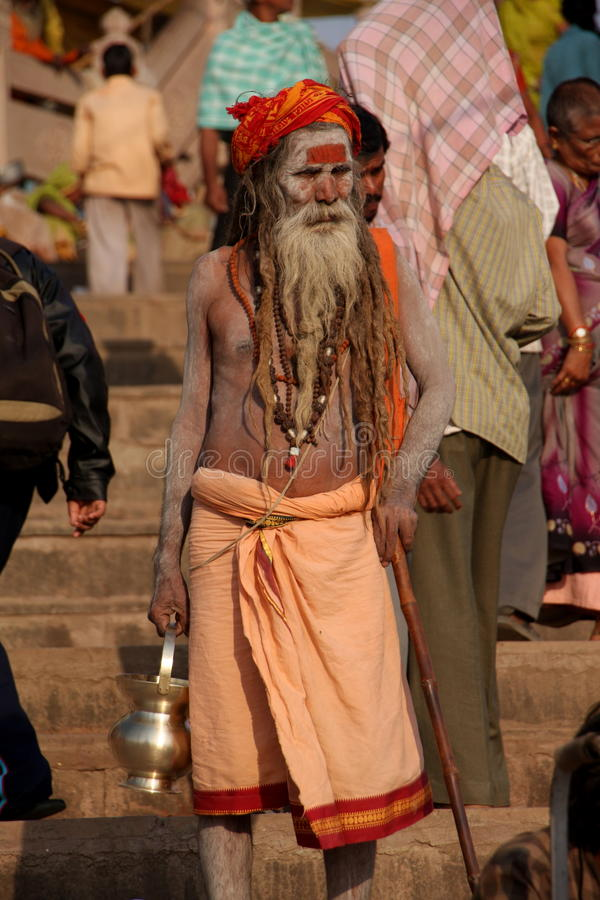 Indian holy man royalty free stock photography