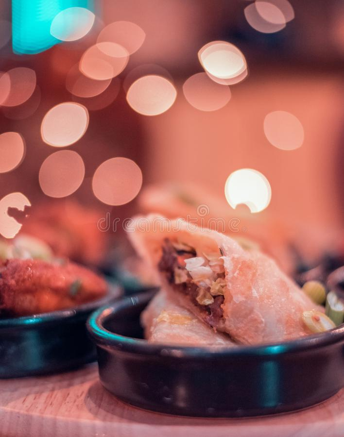 Indian home style Chicken roll royalty free stock photo