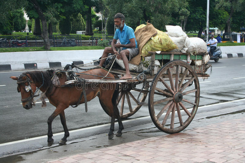 Download Indian Horse Cart In The Environmental Initiative. Editorial Stock Image - Image: 21752434