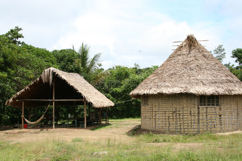Indian Huts Stock Images