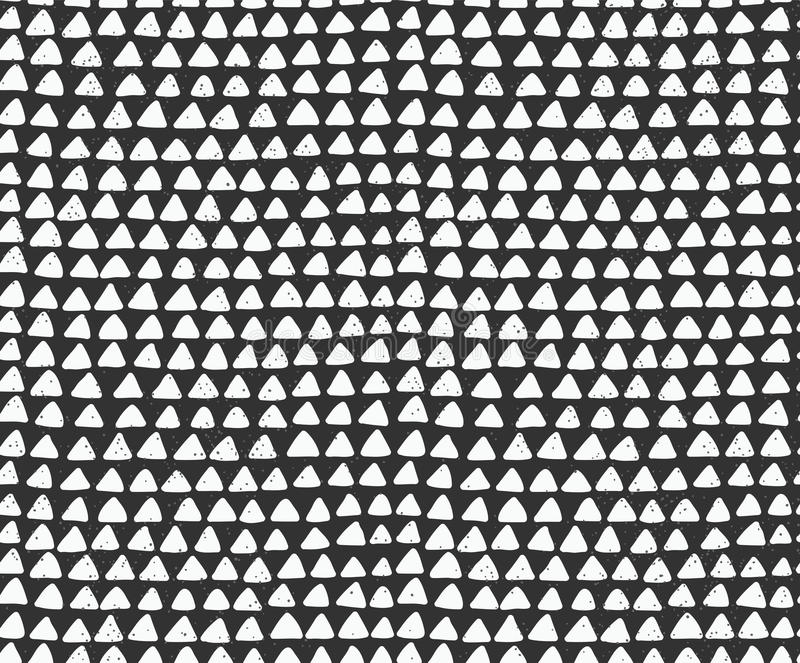 Indian ink triangles seamless pattern vector illustration