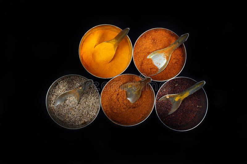 Download Indian Kitchen Spices stock image. Image of traditional - 25259965