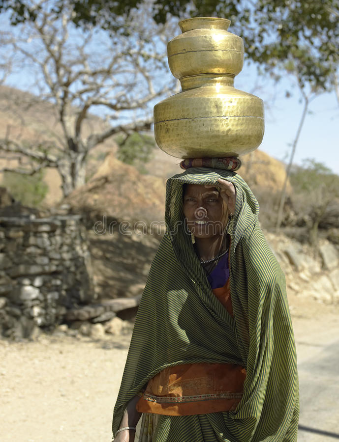 Indian lady in Rajasthan - India royalty free stock images
