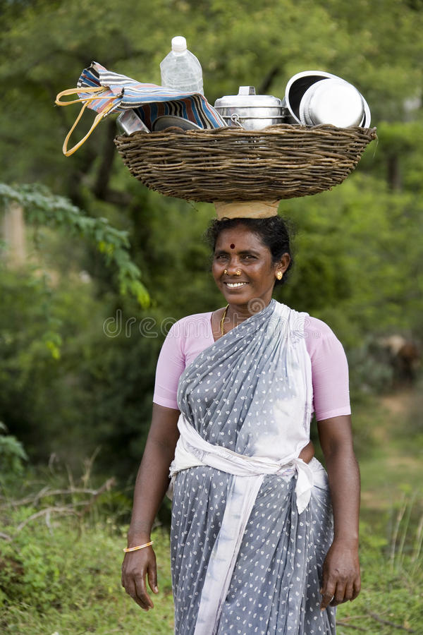 Indian lady in southern India royalty free stock image